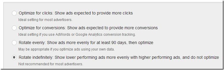 Types of ad rotation thumbnail
