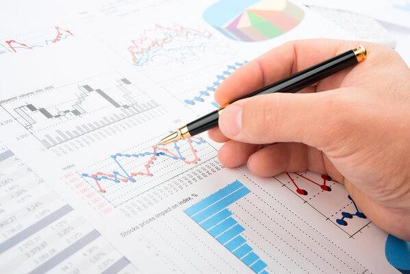 Trader analyzing charts
