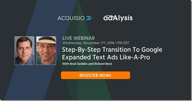 """Webinar """"Step-By-Step Transition To Google Expanded Text Ads Like-A-Pro"""""""