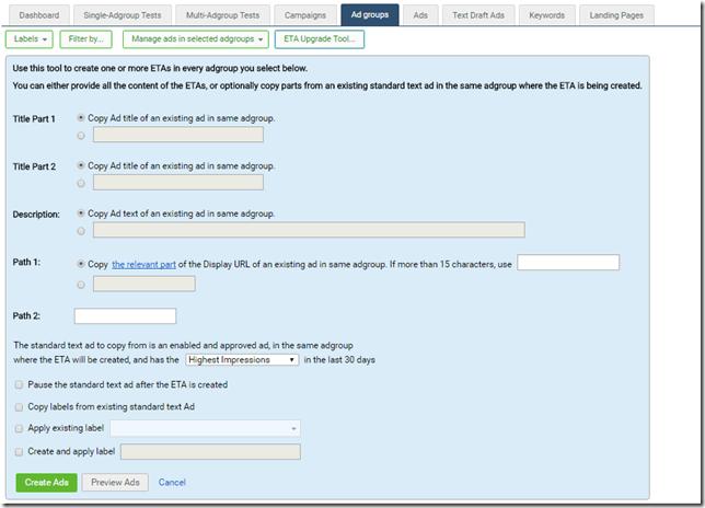 Bing ETAs creation tool thumbnail