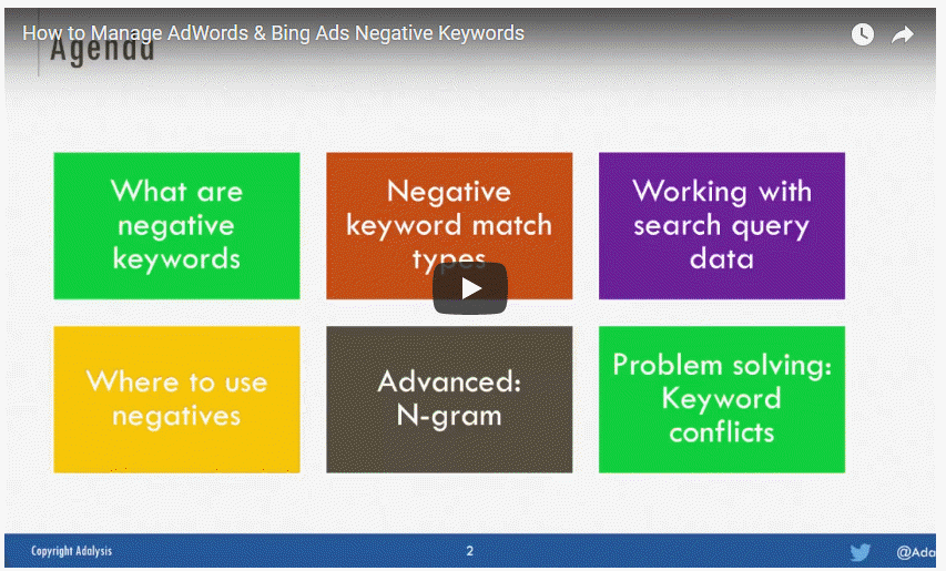 How to Manage AdWords & Bing Ads Negative Keywords
